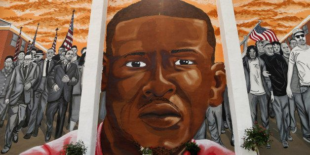 BALTIMORE, MD - JUNE 09:  A mural memorializing Baltimore resident Freddie 'Pepper' Gray is painted on the wall near the plac