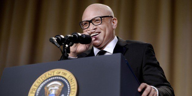WASHINGTON, DC - APRIL 30: (AFP OUT) Comedian Larry Wilmore speaks during the White House Correspondents' Association annual