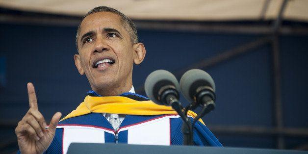 U.S. President Barack Obama delivers the commencement address at Howard University in Washington, D.C., U.S., on Saturday, Ma