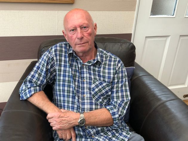Peter Smith 73 who had £7,000 stolen by a convincing
