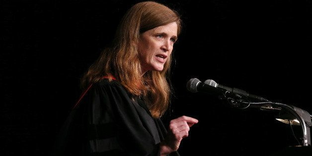 NEW YORK, NY - MAY 17:  United States Ambassador to the United Nations Samantha Power delivers the keynote address at the 123