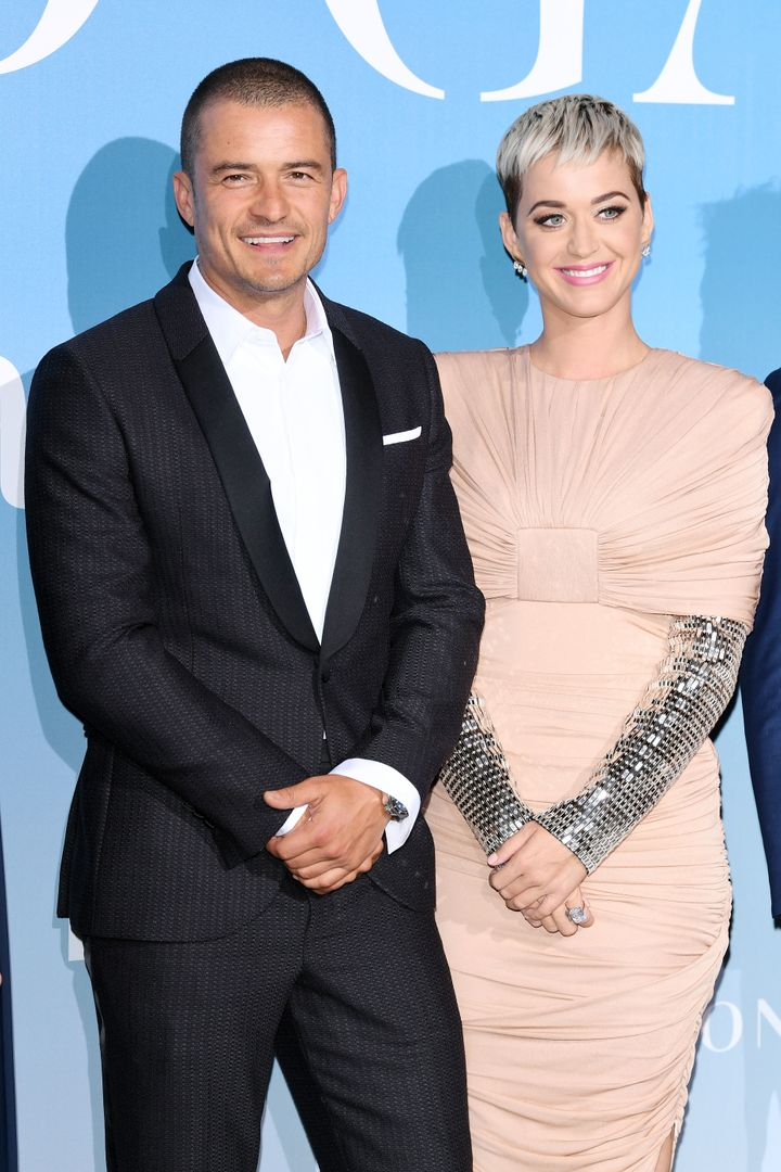 Orlando Bloom and Katy Perry attend the Gala for the Global Ocean hosted by H.S.H. Prince Albert II of Monaco at Opera of Mon