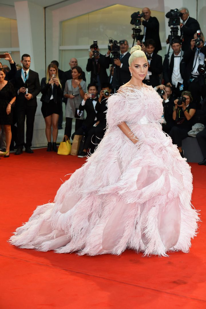 Lady Gaga on the red carpet at the 75th Venice Film Festival on Aug. 31.