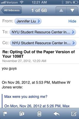 NYU Student Email Reply-Allpocalypse: Entire Student Body