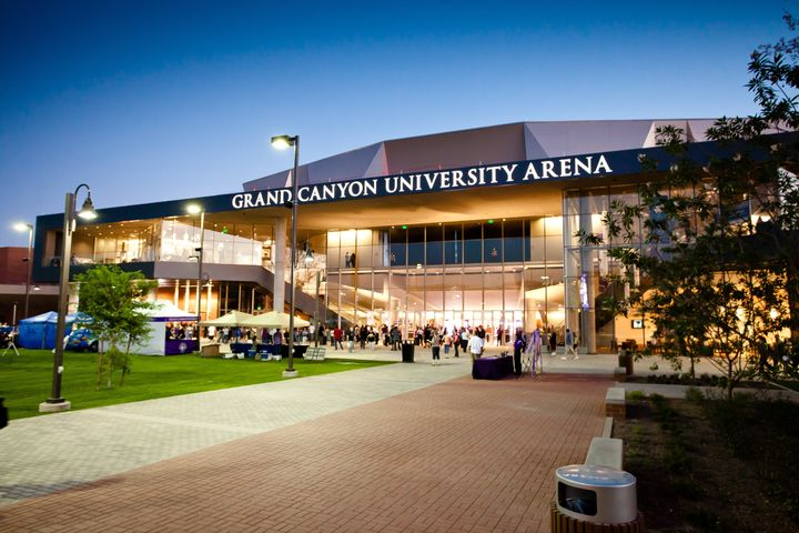 description 1 Grand Canyon University Arena at dusk. |  date 2011-09-23 | source | author GrandCanyonU  | permission | other_
