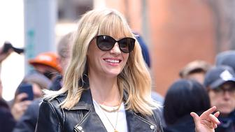 NEW YORK, NY - APRIL 12:  January Jones is seen in Manhattan on  April 12, 2018 in New York City.  (Photo by Robert Kamau/GC Images)