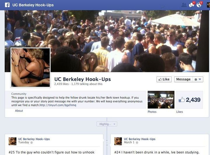 UC Berkeley Hook-Ups, A 'Missed Connections' Facebook Page