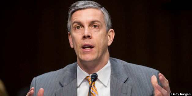 UNITED STATES - FEBRUARY 7: Education Secretary Arne Duncan testifies during the Senate Health, Education, Labor and Pensions