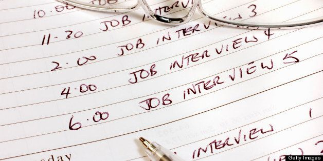 Diary entries for job interviews.