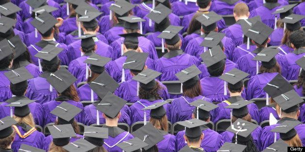 WASHINGTON, DC - JUNE 22: Robe- and mortar-bedecked students during the recent graduation of the Class of 2013 at Northwestern University in Evanston, Ill. (Photo by John Kelly/The Washington Post via Getty Images)
