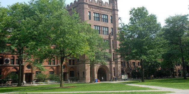 NEW HAVEN, CT - JUNE 28: Yale University old campus is shown on the set of the latest 'Indiana Jones' movie at Yale Universit