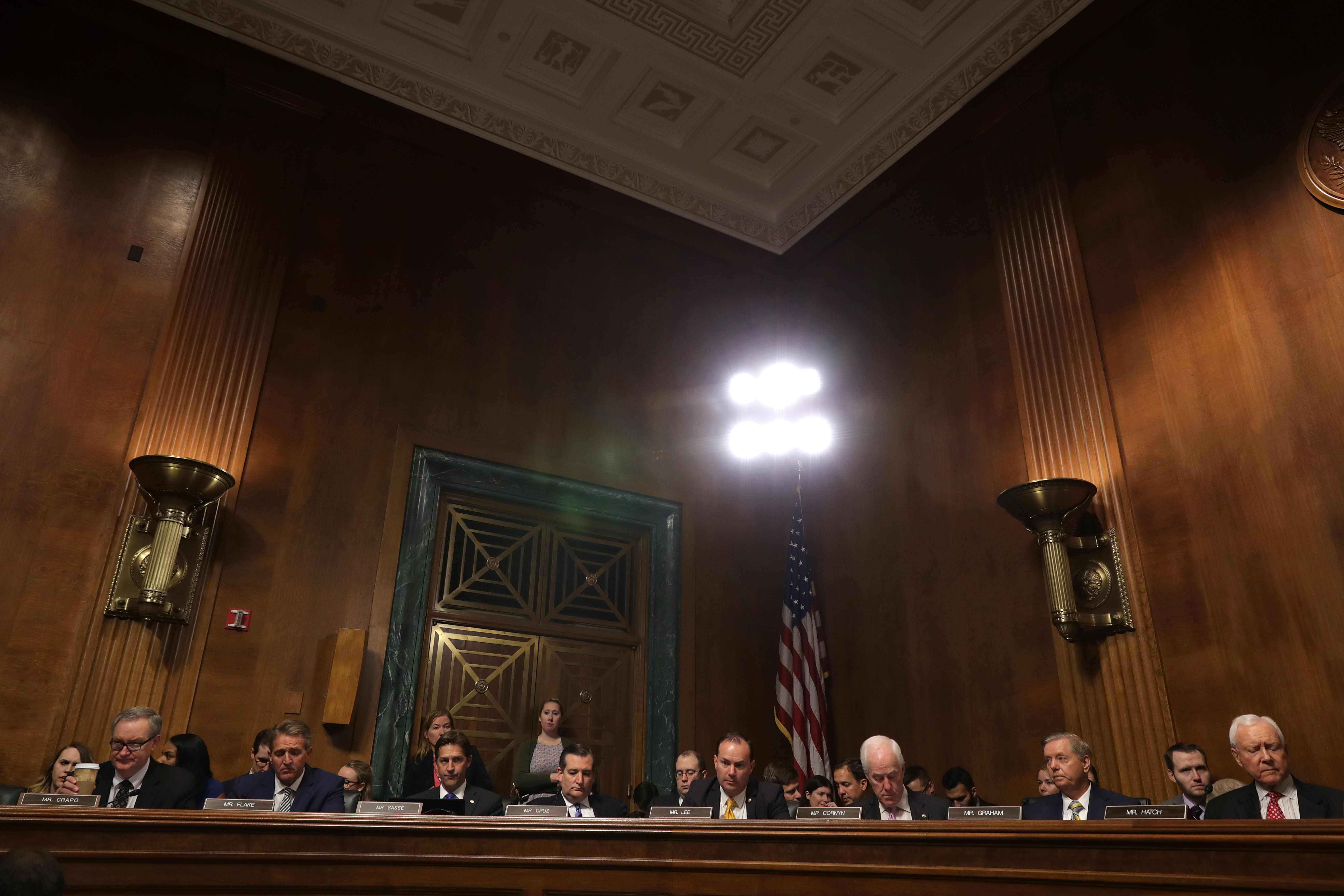 Republican members of the Senate Judiciary Committee.