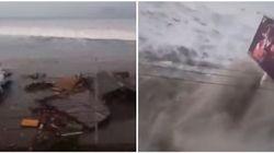 Les images du tsunami qui a frappé les côtes des Célèbes en