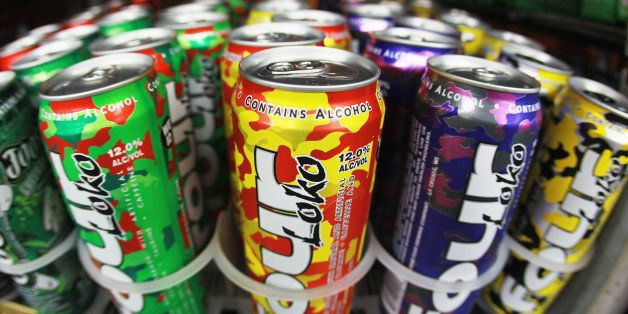 MIAMI - OCTOBER 27:  Cans of Four Loko are seen in the liquor department of a Kwik Stop store on October 27, 2010 in Miami, F