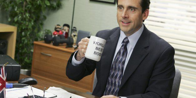 THE OFFICE -- 'Performance Review' Episode 8 -- Aired 11/15/2005 -- Pictured: Steve Carell as Michael Scott -- Photo by: Just