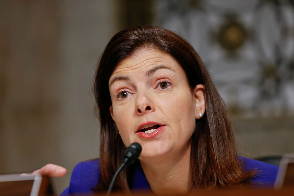FILE - In this Jan. 31, 2013, file photo Senate Armed Services Committee member Sen. Kelly Ayotte, R-N.H., questions Presiden