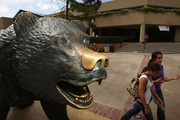 UCLA's Bruin Bear is one of the most protected statues around. Every year around the UCLA and University of Southern Californ