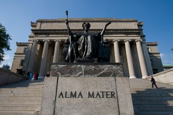Presiding over Columbia University's campus is Alma Mater, a statue of the goddess Athena. Legend has it, the first person in