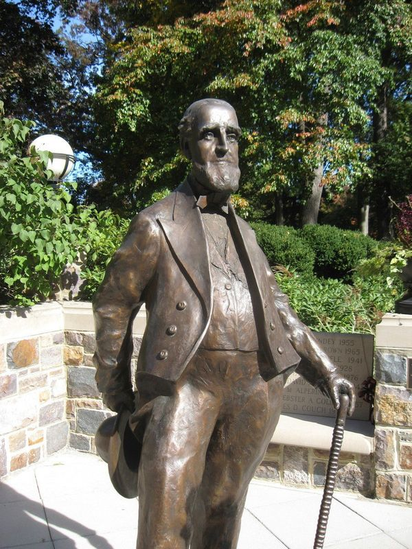 "This statue of the school's founder was brought to Lehigh in <a href=""http://www4.lehigh.edu/news/newsarticle.aspx?Channel=%2"