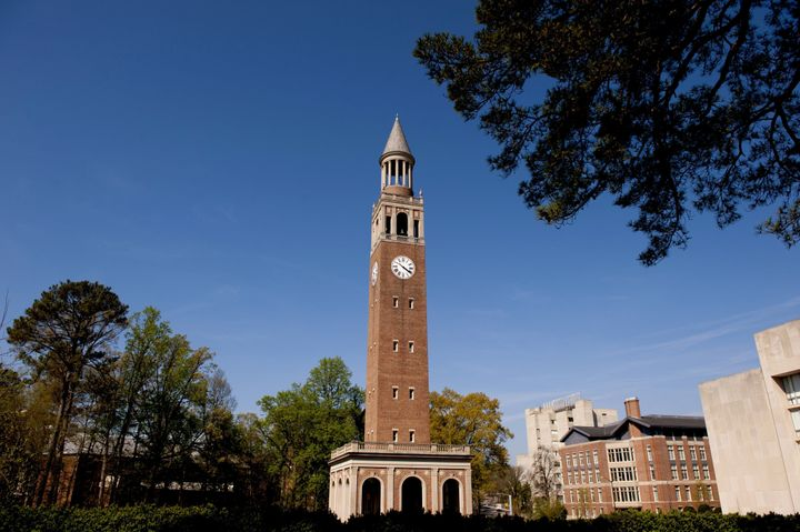 CHAPEL HILL, NC - APRIL 10: A view of the Morehead-Patterson Bell Tower on campus of the University of North Carolina on Apri