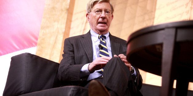 George Will speaking at the 2014 Conservative Political Action Conference (CPAC) in National Harbor, Maryland.