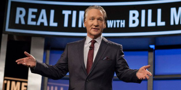 "In this photo provided by HBO, Bill Maher hosts the season premiere of ""Real Time with Bill Maher"" Friday, Jan. 18, 2013. (AP"
