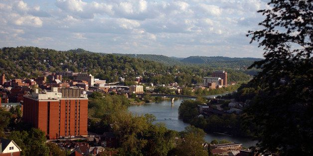 MORGANTOWN, WV - 2011:  General view of the campus of the West Virginia University Mountaineers circa 2011 in Morgantown, Wes