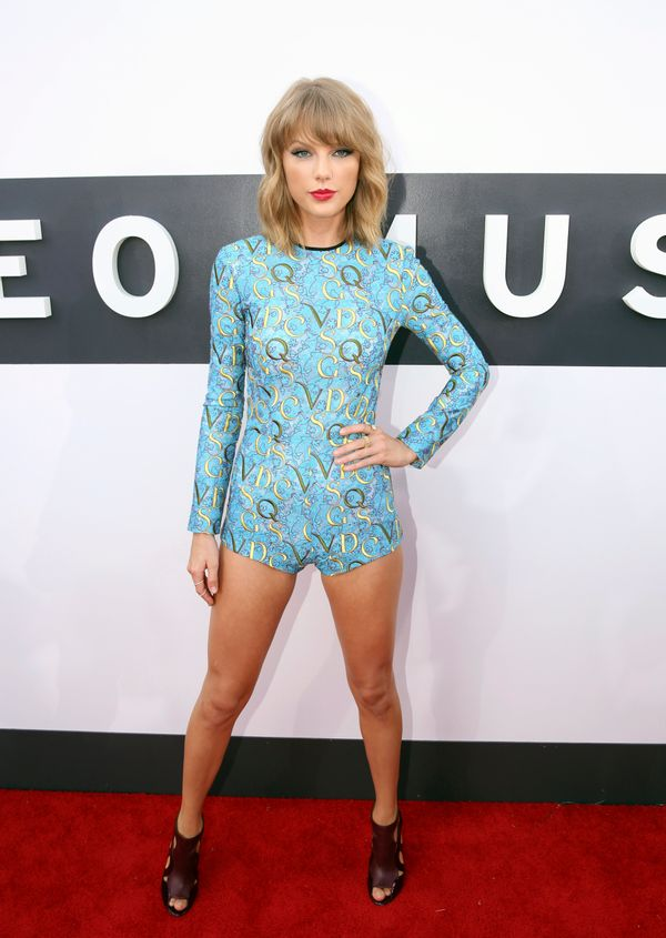 Only T Swizzle could get away with wearing a Mary Katrantzou onesie at the VMAs.