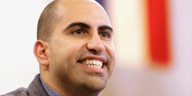 FILE - In this Sept. 9, 2014 file photo, Steve Salaita, a professor who lost a job offer from the University of Illinois over
