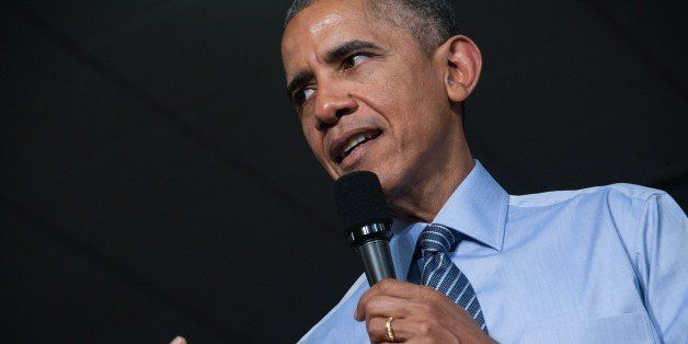 US President Barack Obama delivers a speech on the economy on February 6, 2015 at Ivy Tech Community College in Indianapolis.