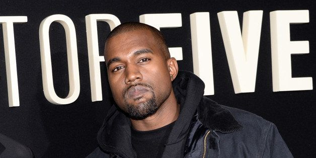 """FILE - In this Dec. 3, 2014 file photo, Kanye Wests attend the premiere of """"Top Five"""" at the Ziegfeld Theatre in New York. We"""
