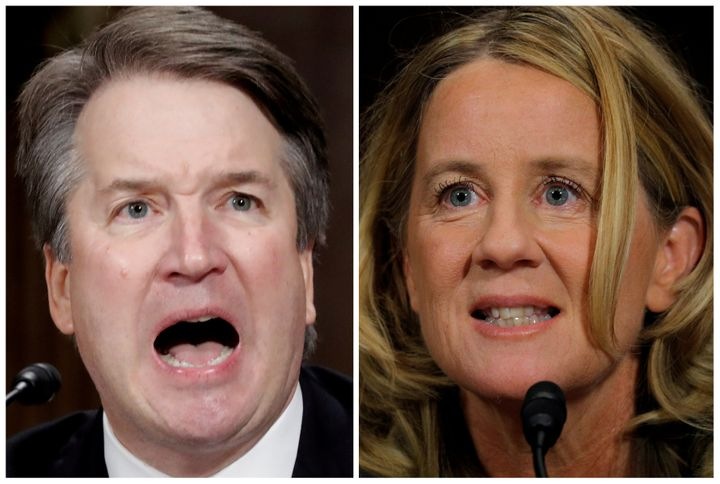 Supreme Court nominee Brett Kavanaugh and professor Christine Blasey Ford testify during a Senate Judiciary Committee confirm