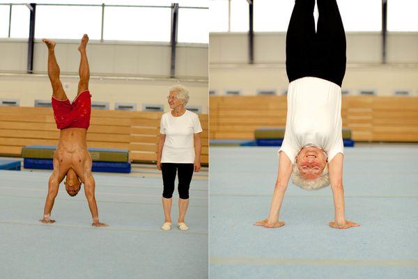 88세의 요한나 쿼아스는 진정한 체조 스타다. 그녀는 56세에 처음 체조를 시작한 후, 지금까지 유연성을 간직하고 있다.