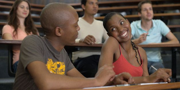 Students flirting during class, South Africa