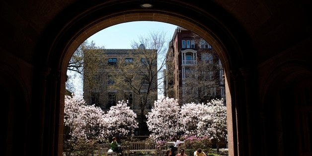 NEW HAVEN, CT - APRIL 16:  Trees bloom on the campus of Yale University April 16, 2008 in New Haven, Connecticut. New Haven b