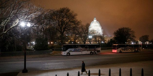 The U.S. Capitol in Washington is seen Wednesday evening, Jan. 14, 2015. A man who plotted to attack the U.S. congressional b