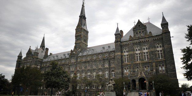 Healy Hall, the flagship building of Georgetown University's main campus in Washington, DC, is seen on September 30, 2011. He