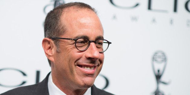 NEW YORK, NY - OCTOBER 01:  Jerry Seinfeld  arrives at 55th Annual CLIO Awards at Cipriani Wall Street on October 1, 2014 in