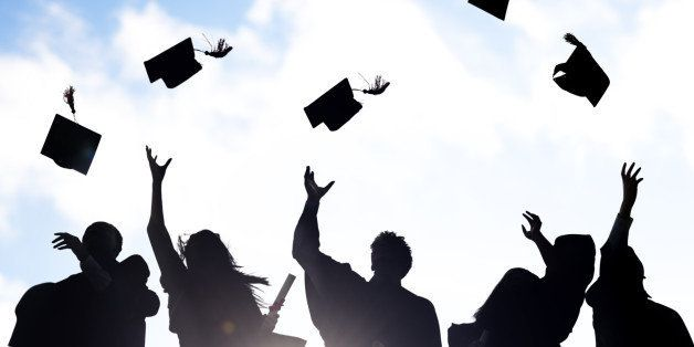 [size=12]Silhouettes of Diverse International Students Celebrating Graduation.[/size]  [url=http://www.istockphoto.com/search