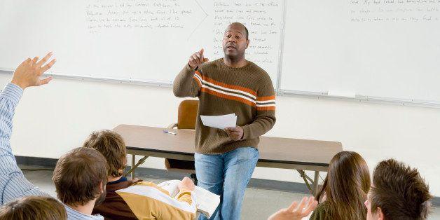 Teacher Asking Question To Class