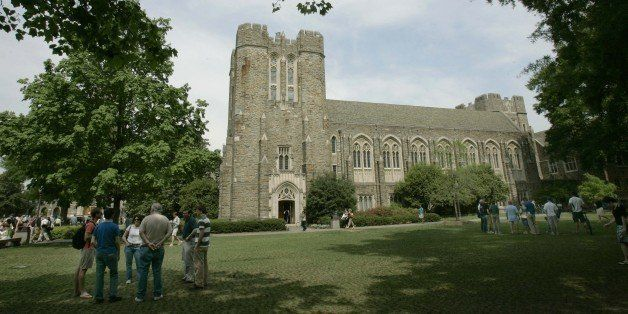 Visitors explore the Duke University campus during Blue Devil Days Monday, April 24, 2006 in Durham, N.C. With classes over f