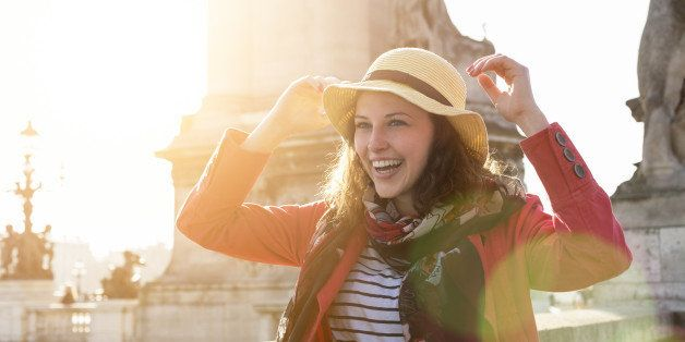 Young woman smiling in Paris