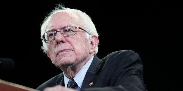 YPSILANTI, MI - FEBRUARY 15:  U.S. Senator and Democratic Presidential Candidate Bernie Sanders  holds his first campaign ral