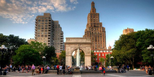 Washington Square Park is one of the best-known of New York City's 1,900 public parks. At 9.75 acres (39,500 m2), it is a lan