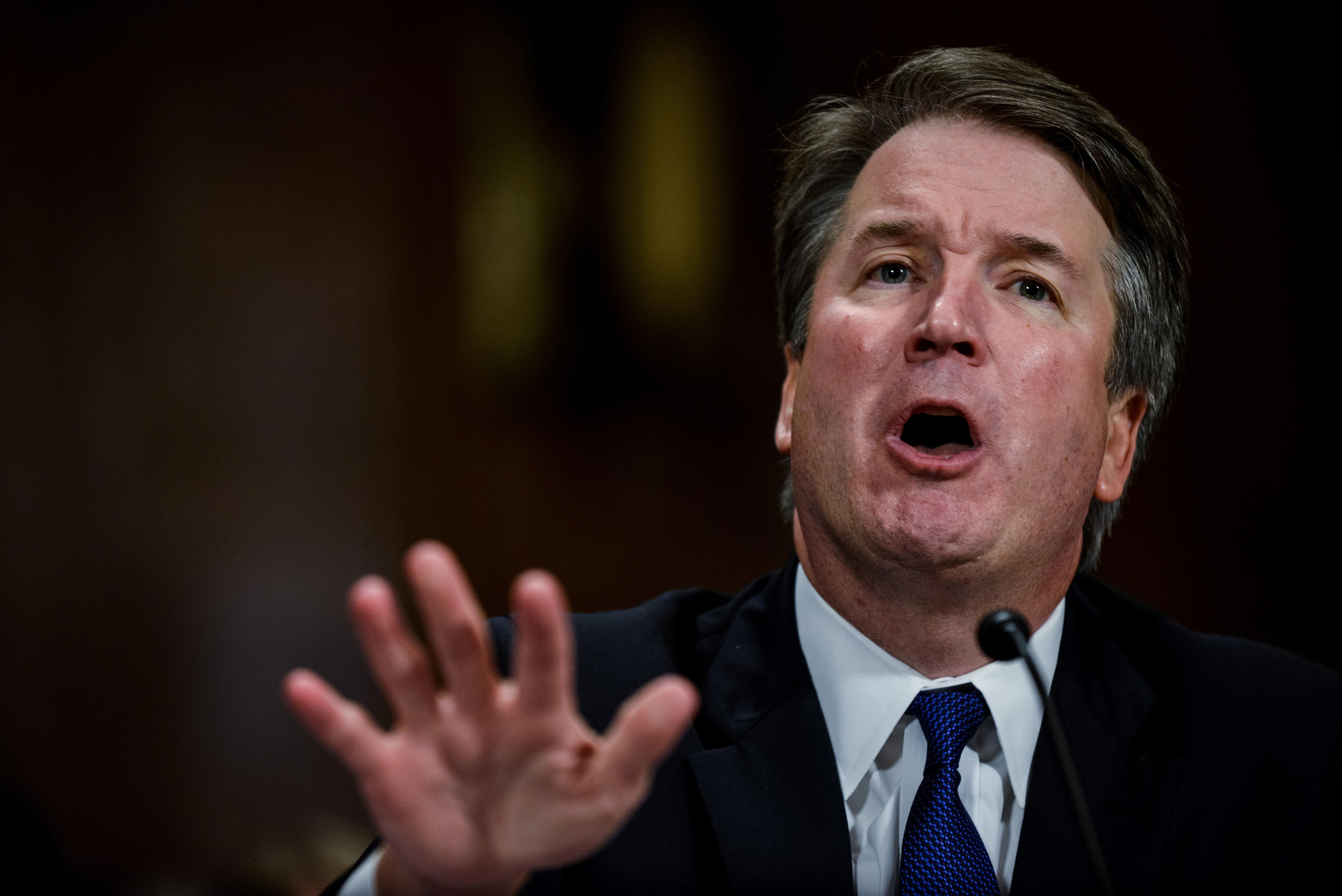 "Judge Brett Kavanaugh, testifying before the Senate Judiciary Committee in Washington on Sept. 27, said, ""My family and"
