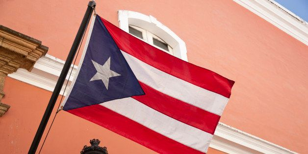 Puerto Rican flag in Old San Juan