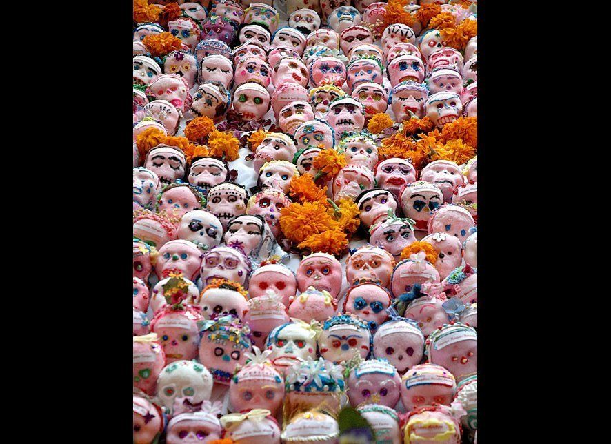 Dia De Los Muertos (Day of The Dead) honors the dead. On November 1st, people come together to give offerings and pray for de
