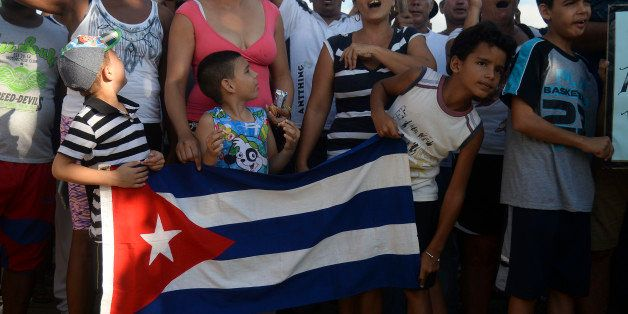 Cuban migrants demonstrate demanding to be allowed to travel to the United States in thee Turbo municipality, Antioquia depar