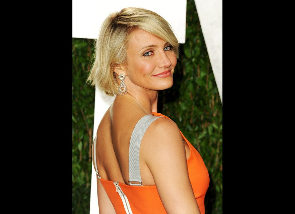 WEST HOLLYWOOD, CA - FEBRUARY 26:  Actress Cameron Diaz arrives at the 2012 Vanity Fair Oscar Party hosted by Graydon Carter