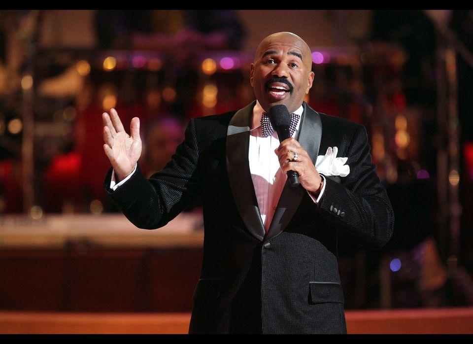 "Longtime comedian and talk show host <a href=""https://www.facebook.com/SteveHarvey"" target=""_hplink"">Steve Harvey</a> rounds"